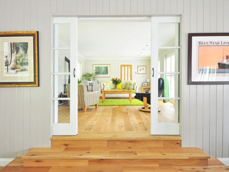 interior of home with doors